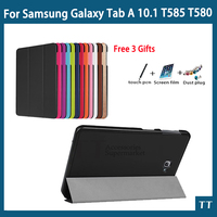 High Quality Smart Flip CaseFor Samsung Galaxy Tab A 10 1 2016 T585 T580 SM T580