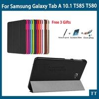 High Quality Smart Flip CaseFor Samsung Galaxy Tab A 10 1 2016 T585 T580 SM T580