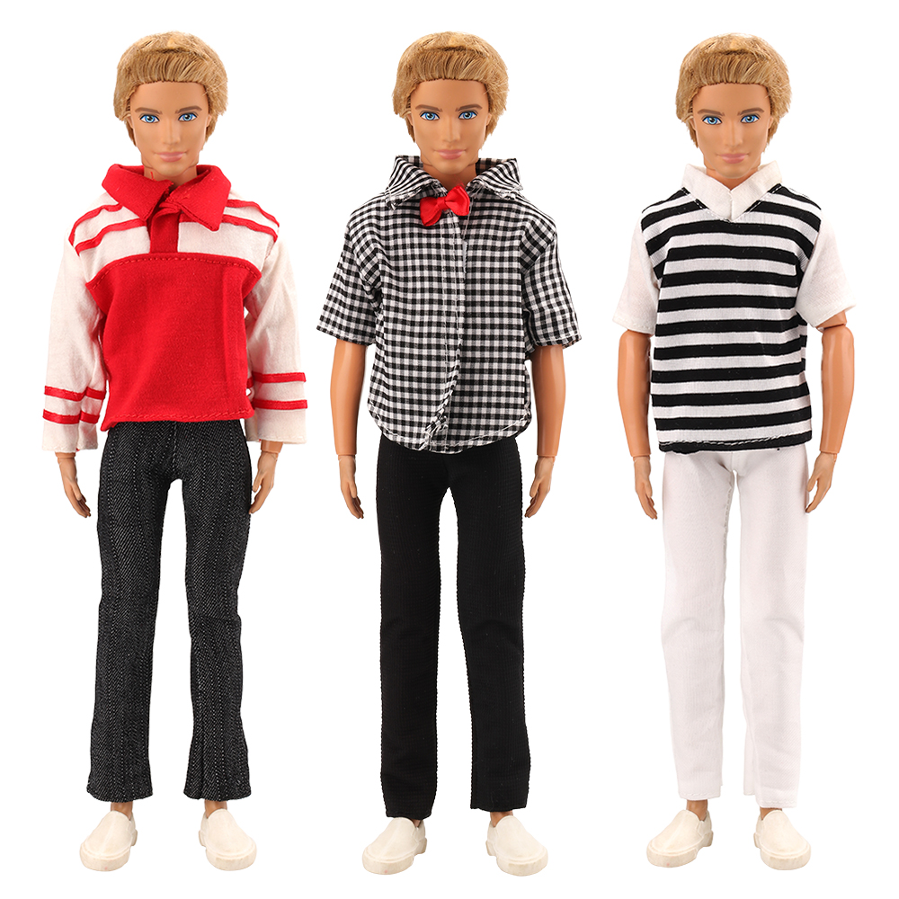 Set 3pcs Fromal Office Suit Outfits Wear Clothing for Boyfriend 12 inch Boy Doll