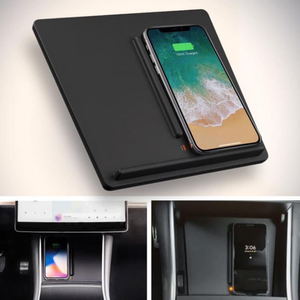 Chargeur de batterie de voiture sans fil auto cargador chargeur de Console centrale de chargement de dispositif de téléphone pour Tesla modèle 3