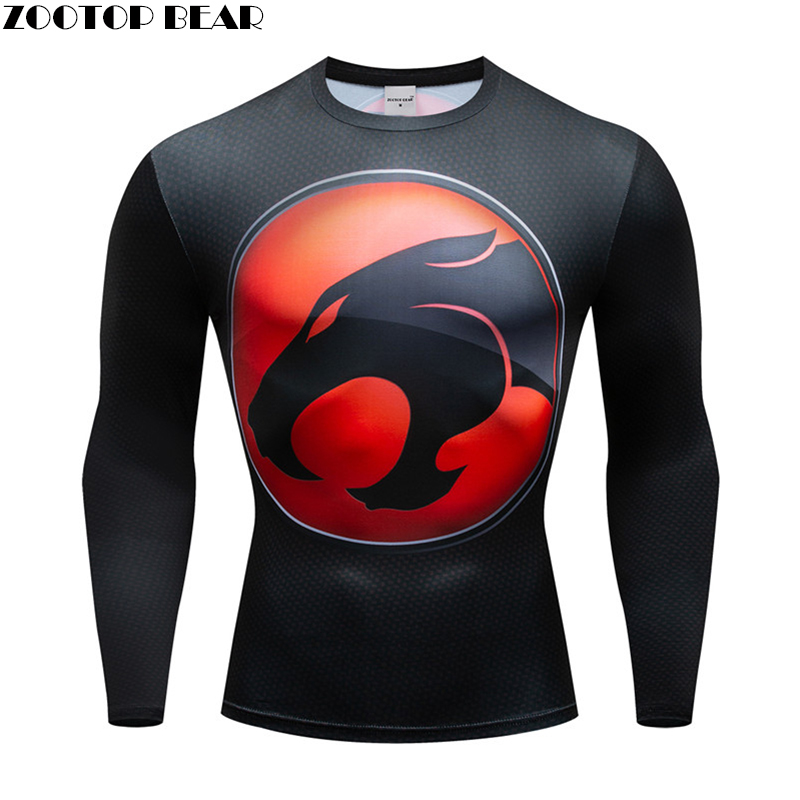 Black panther t-shirt Men  Spring Compression t shirt 3d Prints Tops quick dry Breathable Fitness shirt Long Sleeve ZOOTOP BEAR