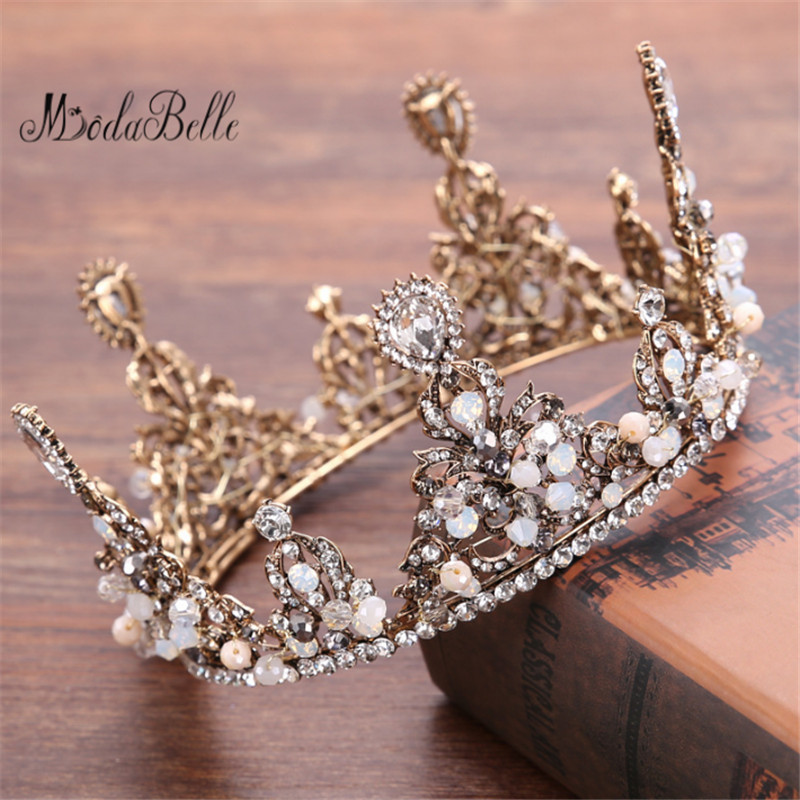 Modabelle Baroque Wedding Crown Crystal Wedding Accessories Pearls 2018 Free Shipping Bridal Headpieces