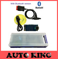 with ARM chip ! new vci (2015.1 Software+Free activate) + mvd with Bluetooth +Plastic box tcs cdp pro for cars trucks DHL FREE !