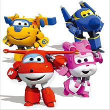 Hot!! 8 styles Super Wings Mini Planes Deformation Airplane Robot Action Figures Changeable Toys action toy figures Super Wings