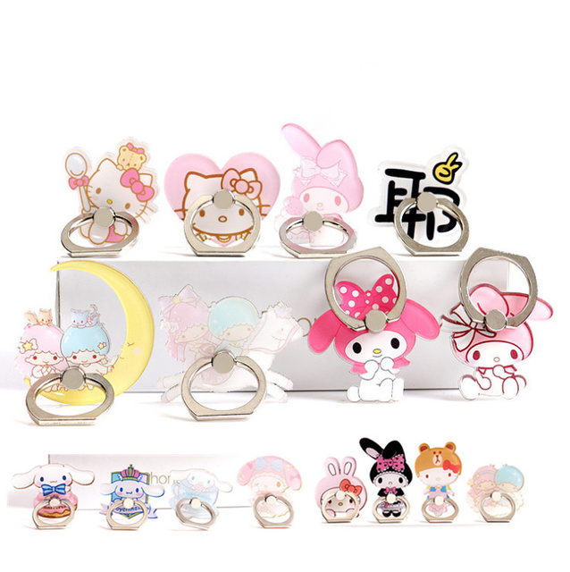 New Phone Holder Ring cute Mobile Phone Stand Rings Finger Ring Holder Cute Melody Twins Star suporte celular for iPhone