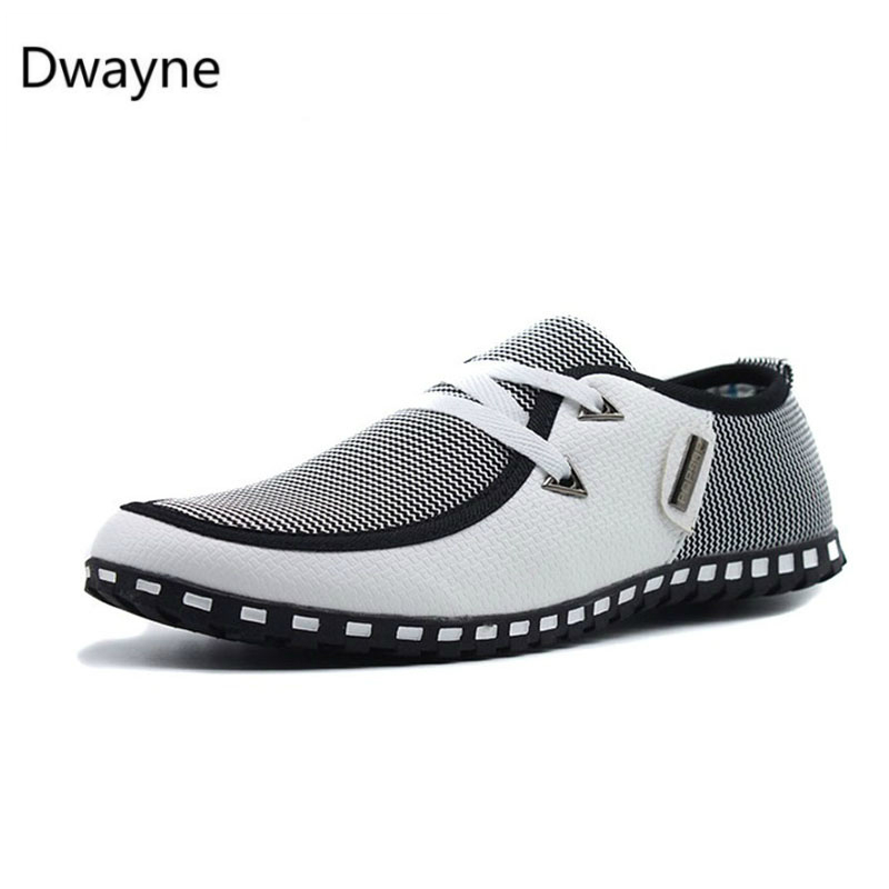 Men Casual Shoes Breathable Light Flats Shoes Leather Loafers Slip On Mens Flats Driving Shoes Plus Size FONIRRA 38-47