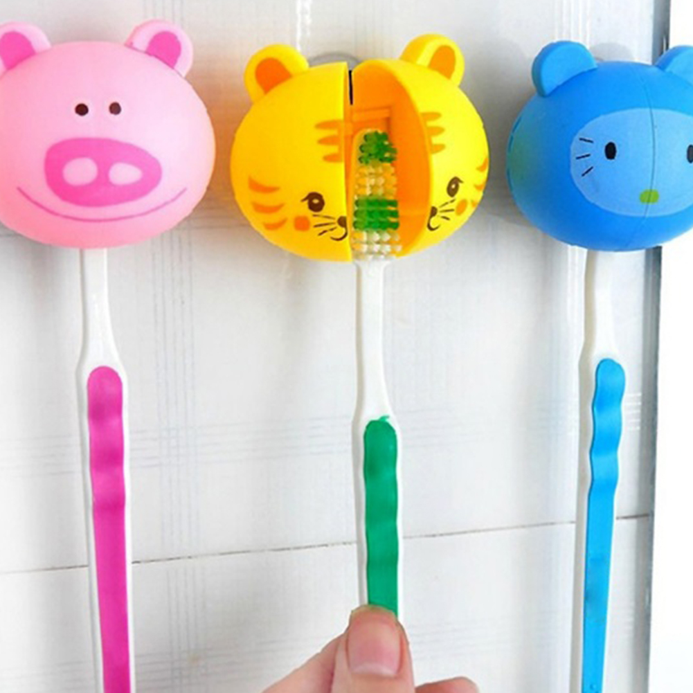 Suction Cup Toothbrush Holder Bathroom Accessories Set Wall Suction Holder Tool For kids gifts best girl toys 2017