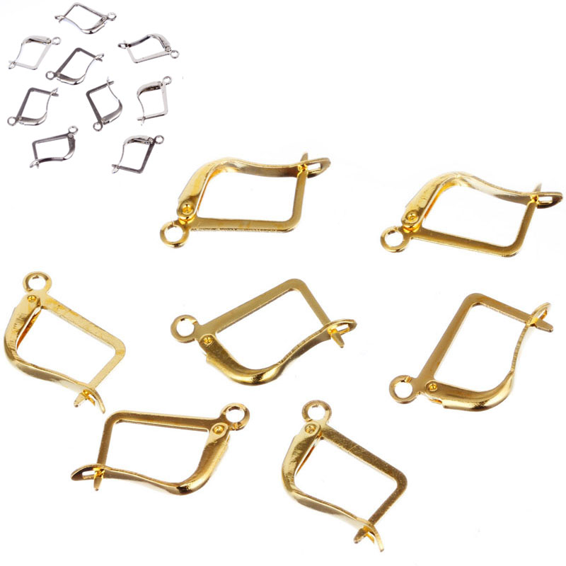 New 12MM16MM 30pcs/lot Ear Clip DIY Big Square Women Golden/Silvery Color Earrings Salf Making Jewelry Accessories 30pcs lot dac0808 dac0808lcn dip16 new