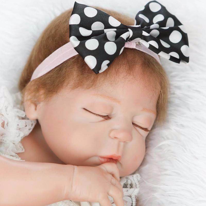 Handmade Doll Reborn Cute 22inch Full Body Silicone Reborn Baby Dolls Toys 55cm Bebe Doll Kawaii Newborn Babies Toys kawaii baby dolls
