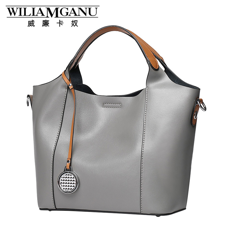 ФОТО WILIAMGANU new fashion handbags Europe and the United States leather handbag first layer of leather ladies shoulder bag