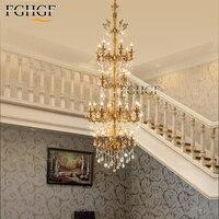 현대 대형 샹들리에 라이트 긴 계단 조명 lustres lampadari 크리스탈 샹들리에 비품 램프 거실 침실|샹들리에|   -