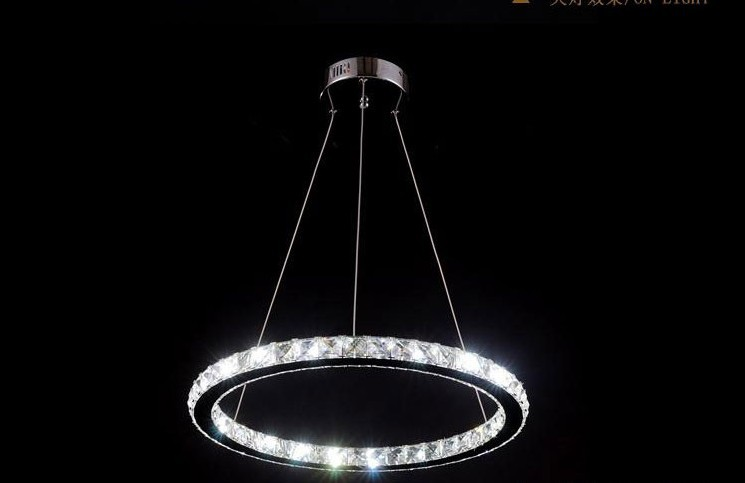 Modern chrome chandelier crystals diamond ring led lamp stainless modern chrome chandelier crystals diamond ring led lamp stainless steel hanging light fixtures adjustable cristal led lustre in chandeliers from lights aloadofball Image collections