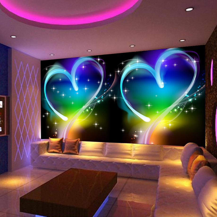 custom 3d wall mural wallpaper modern design personas love heart ktv