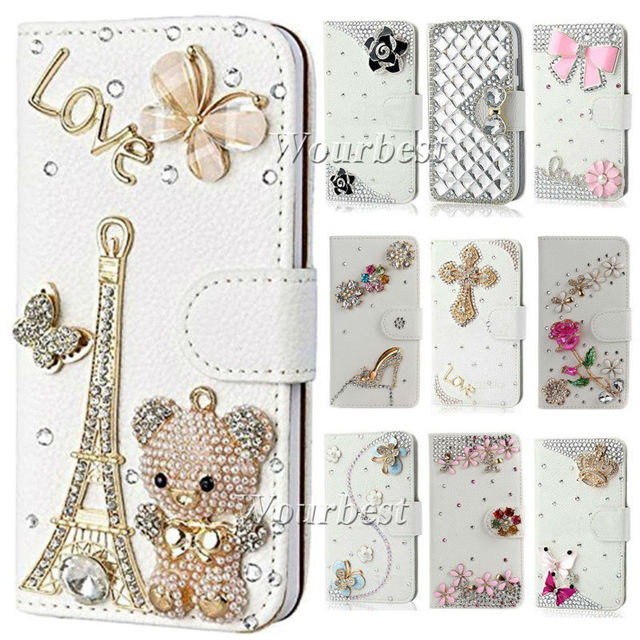 pretty nice b139a 060cc US $7.99 |Beautiful Bling Crystal Rhinestone PU Leather Card Wallet Case  Stand Cover For sony xperia Z3 Z3 compact mini M55W on Aliexpress.com | ...