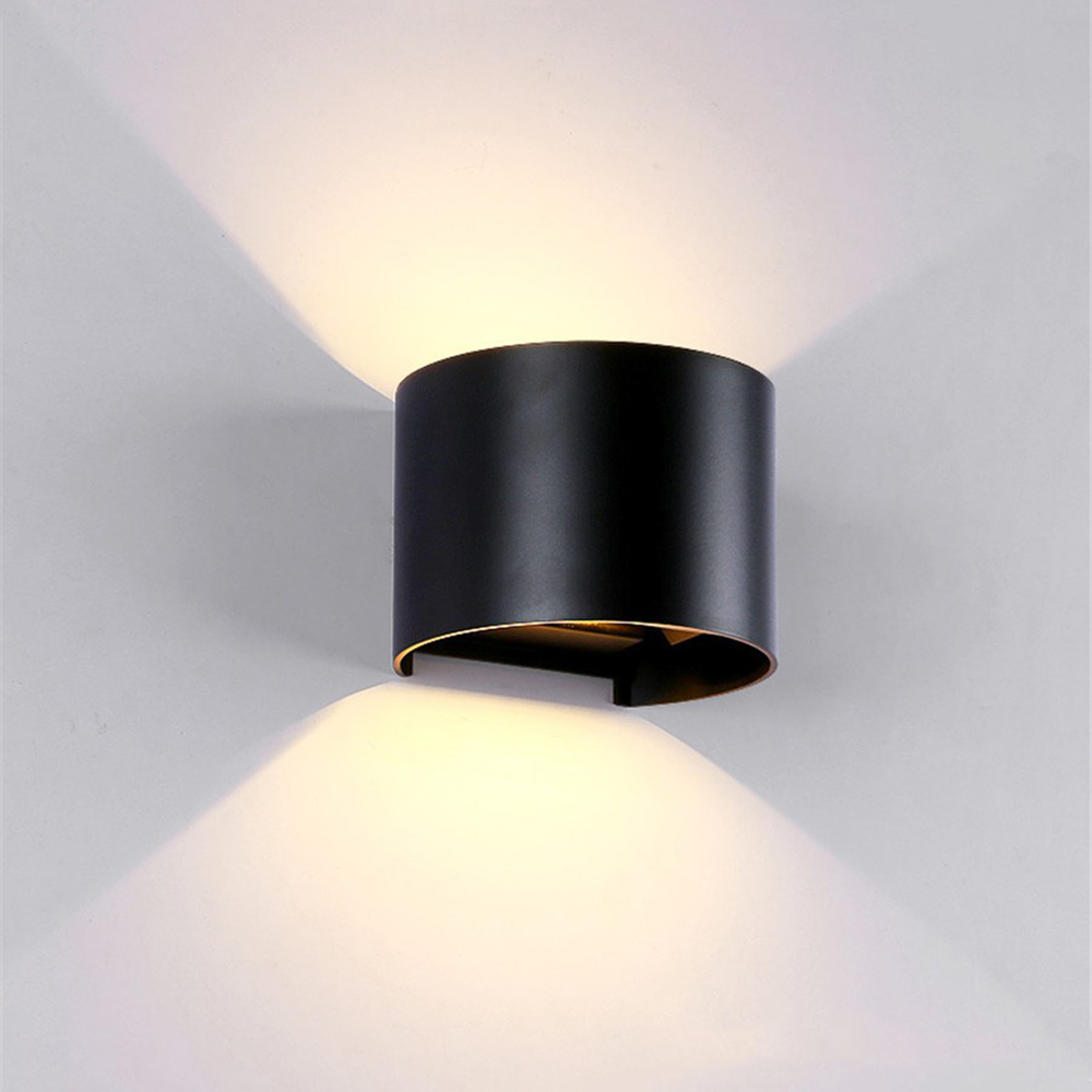 Tanbaby Waterproof Outdoor LED Wall light 6W 12W COB High brightness Up and downlight wall sconce lighting fixture indoor decor gd 6w 12w wall lamp ip65 adjustable surface mounted led wall light outdoor wall sconce cob high brightness up and down wall lamp