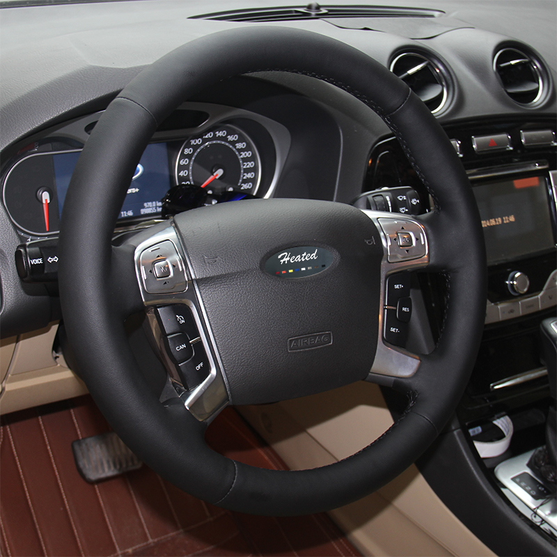 US $45 49 9% OFF|Aliexpress com : Buy Nappa Leather Auto steering wheel  cover for Ford Mondeo Mk4 2007 2012 S Max 2008 capa para volante braid on  the