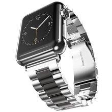 Stainless Steel Watch Band For Apple Watch 38mm 42mm Wrist Watch Straps For iWatch Series 4 3 2 1 цена в Москве и Питере