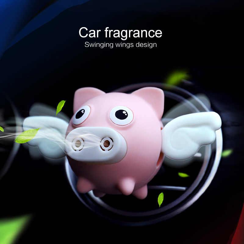 Latająca świnia odświeżacz do samochodu samochód wylot powietrza odświeżacz powietrza wnętrze zapach zapach zapachowy dyfuzor Decor produkty samochodowe akcesoria samochodowe