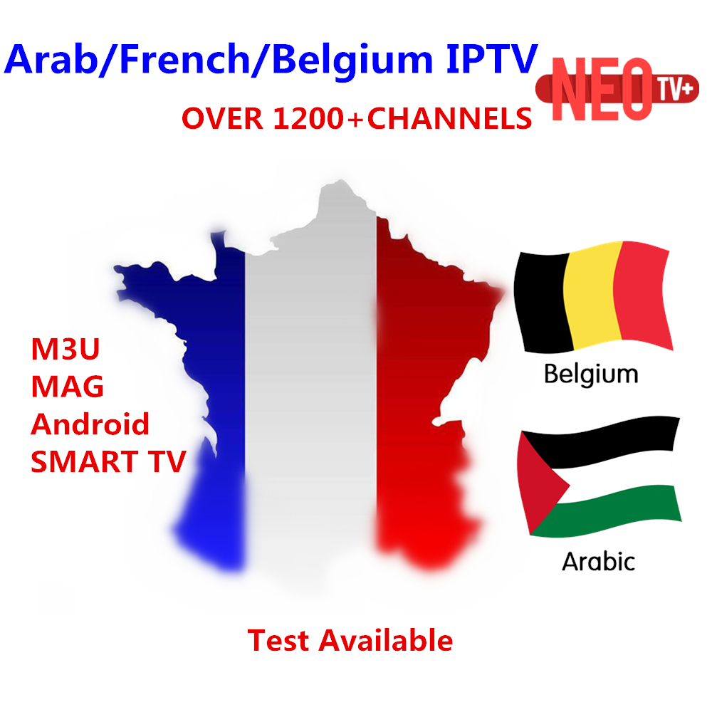 Best Arabic French NEO IPTV for 1 year with 1200+ channel TV&VOD For Belgium Morocco iptv smart tv Android Enigma M3U MAG tv box цена