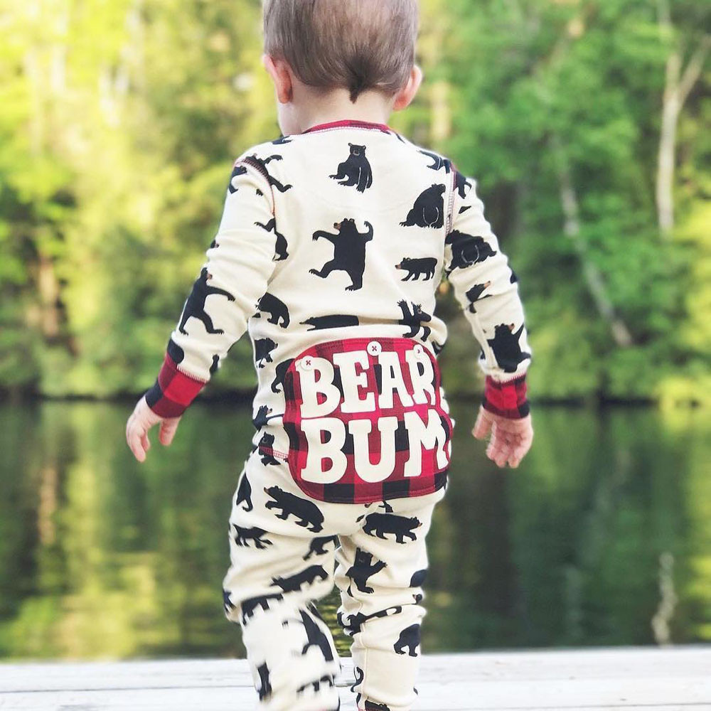 f7f7cde586ce Detail Feedback Questions about 2018 New fashion Infant Newborn Baby Boys  Girls Cartoon Bear Letter Plaid Romper Jumpsuit Outfits stem12 on  Aliexpress.com ...
