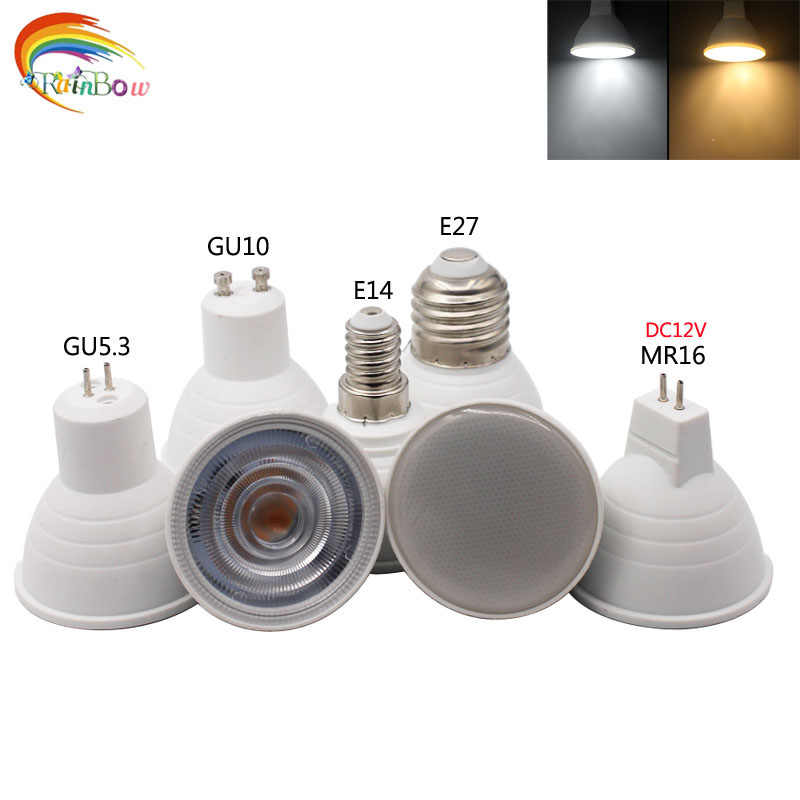 2018 nouveau E27 E14 MR16 GU5.3 GU10 Lampada dimmable LED ampoule 9 W 220 V Bombillas mr16 12 v cob lampe à LED Spot Lampara