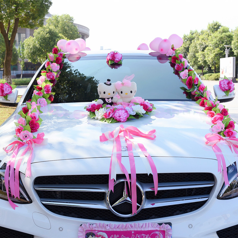Искусственные цветы, свадебное украшение автомобиля, искусственные цветы, набор, декоративные цветы, венки, плавающий декор, свадебная композиция R93