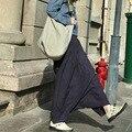 Женщины Свободные Большой Размер Фиолетовый Гарем Брюки 2016 Плюс Размер Эластичный Пояс Гарем Брюки Осень-Весна Мода