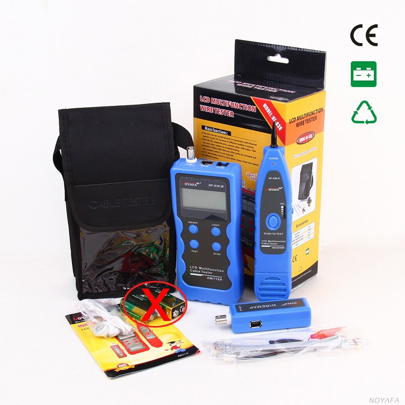 все цены на NF-838 Multipurpose LCD cable tester Wire Tracker network cable tester Cable Scanner USB BNC/ RJ11/ RJ45 , free shipping онлайн