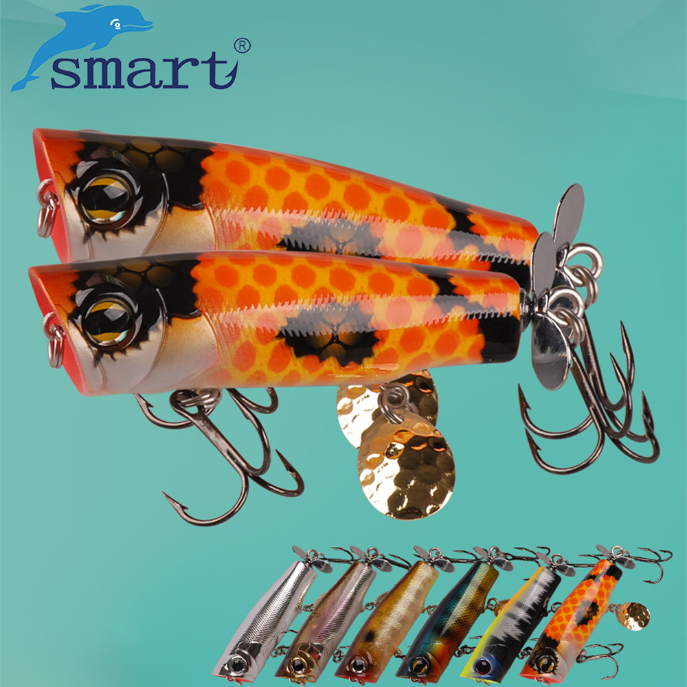 SMART Popper Bait 70mm/12.2g Top Water Hard Fishing Lure Isca Artificial Para Pesca Leurre Souple Lures Peche Fishing Wobblers 1pcs 7cm 11g popper fishing lure hard wave fishing baits top water lure kosadaka freshwater lures for pike bass fishing