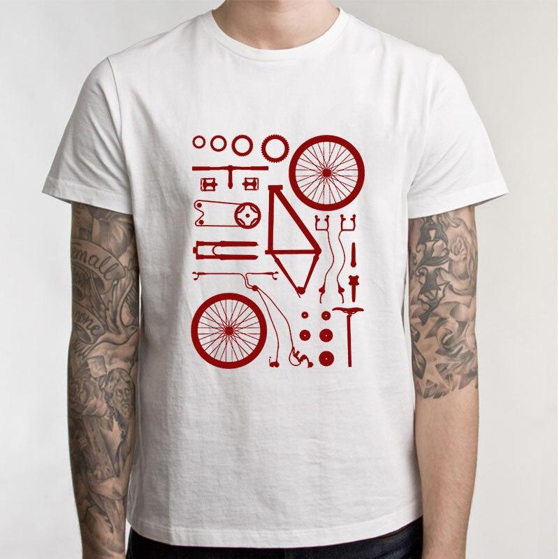 Funny T Shirt Men Boy Biking Exploded Mountain Biker Cycle Men Tshirt Short Sleeve Crew Neck Mens Clothing