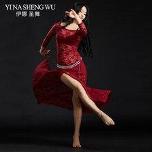 Robe de danse du ventre en dentelle pour femmes, robe longue avec short, Costumes de danse du ventre, pour Performance, collection nouveauté