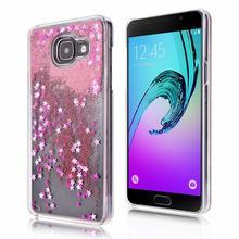 Женщина девушка ясно динамический Жидкий блеск Красочные блестка песок Плывун чехол для телефона Samsung Galaxy 2015 A3 A5 A7 2016