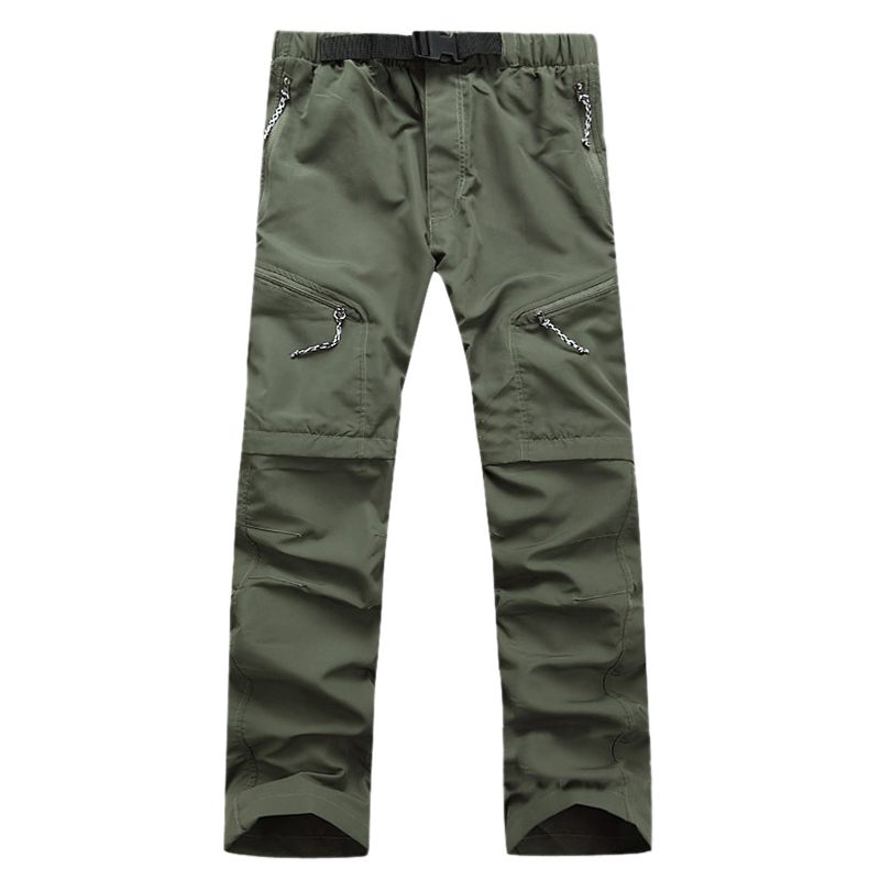 2018 Nen Summer Detachable Quick Dry Men Pants Waterproof Military Active Multifunction Trousers Pockets Mens Casual Cargo Pan