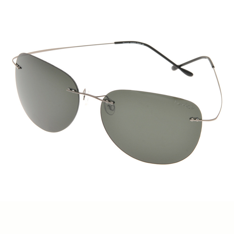 Rimless Aviator Eyeglass Frames : Didi lovers aviator polarized clip on sunglasses rimless ...