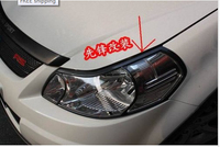 Black front head lamp light cover Trims 2PCS For 2007 2011 Suzuki SX4
