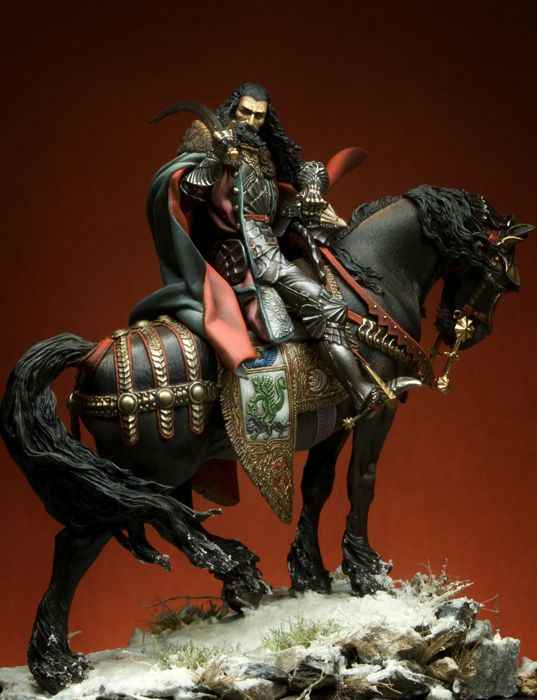 Unassambled  1/24  75MM ANCIENT knight with HORSE 75MM   Resin figure miniature model kits Unpainted