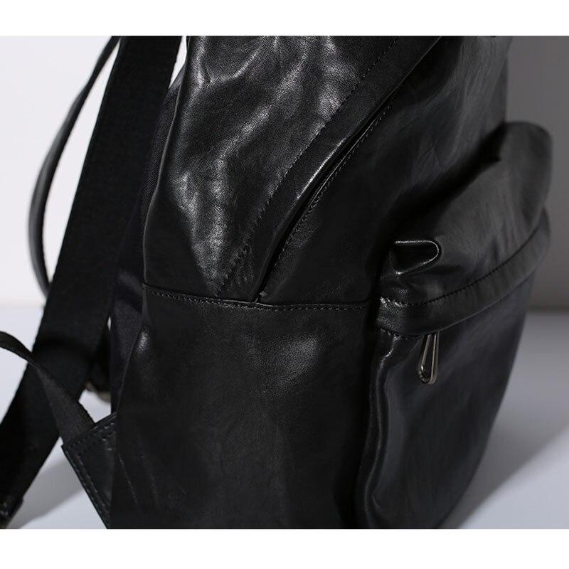 De Occasionnel Dos En À Veau Étudiant Souple Bandoulière Hommes Véritable Pack Cuir Sac Aetoo Noir 1 Et Femmes 9WED2IH