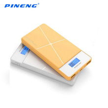 PN-983 Original PINENG 10000mAh Power Bank Quick charging Dual USB Power Bank Portable Color Mobile Power Bank with LED Display