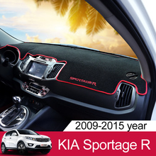 For Kia Sportage R 2010 2011 2012 2013 2014 2015 LHD Car Anti-slide Pad Dashboard Reflective Mat Trim Summer Supplie Accessories стоимость