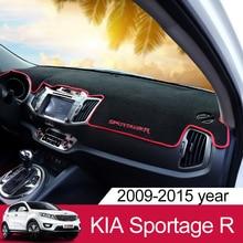 Для Kia Sportage R 2010 2011 2012 2013 2014 2015 LHD Автомобильный анти-скользящий коврик приборная панель отражающий мат обшивка Лето Supplie аксессуары