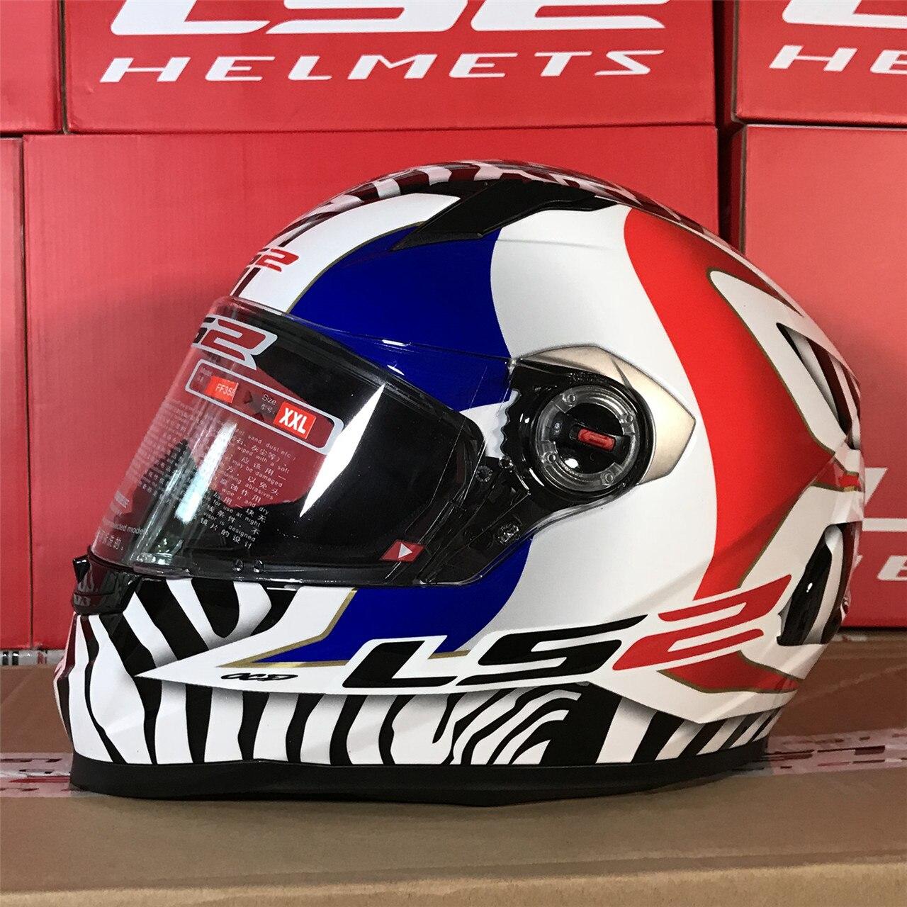 LS2 Classic Capacetes Moto casque intégral pour Moto course engrenages de protection