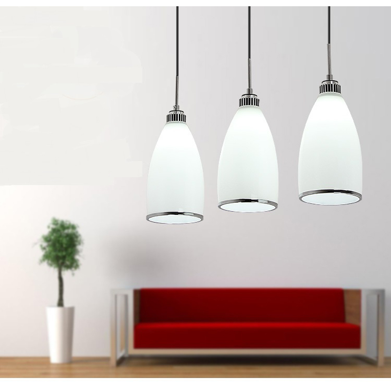 3 heads lamps Modern pendant lights dining lamp Restaurant glass lamp white glass hone lighting pendant lamps za FG463 LU1024 free shipping pendant lights rustic white candle iron 3 5 6 white lamps foyer pendant light restaurant dining pendant lamp