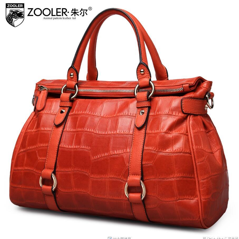 Women bag 2017 New zooler brand genuine leather bag fashion quality cowhide women handbags shoulder messenger  bag