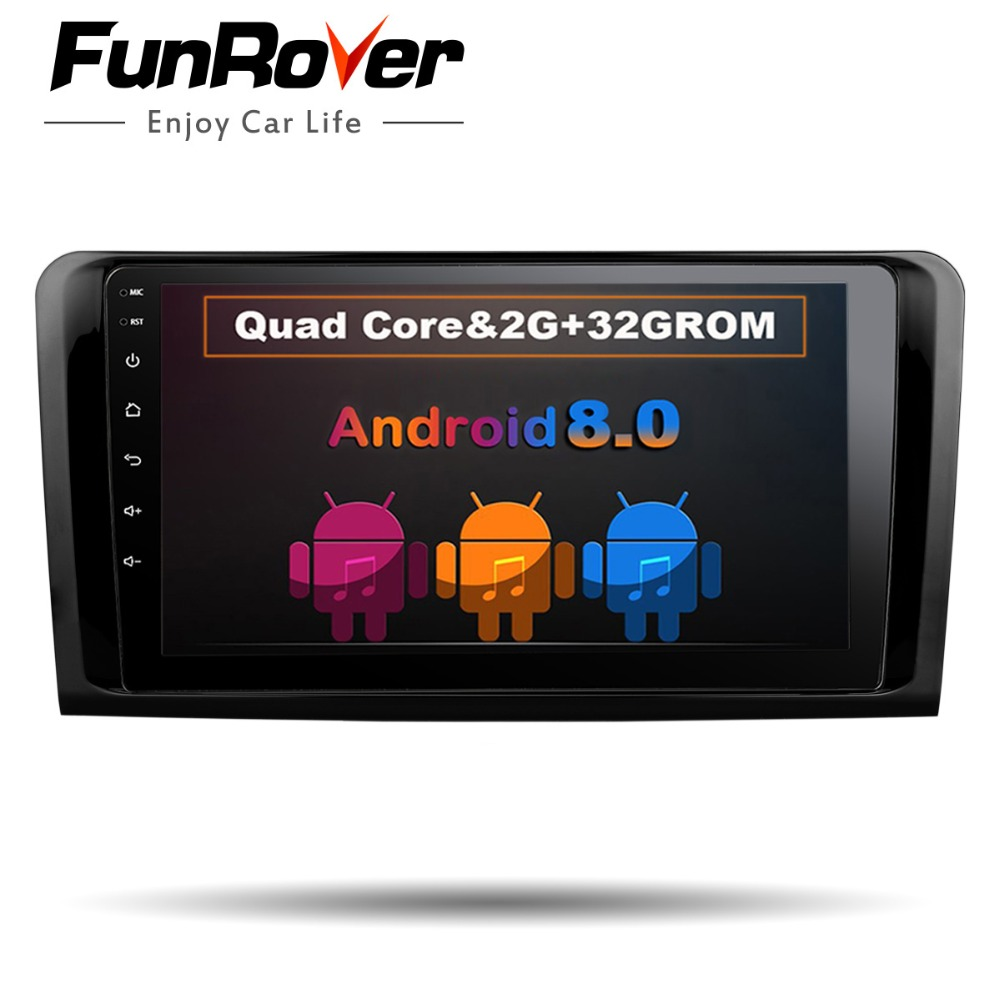 Funrover 2 din Car DVD GPS Player For Mercedes Benz ML W164 W300 ML350 ML450 ML500 GL X164 G320 GL350 GL450 GL500 car radio rds