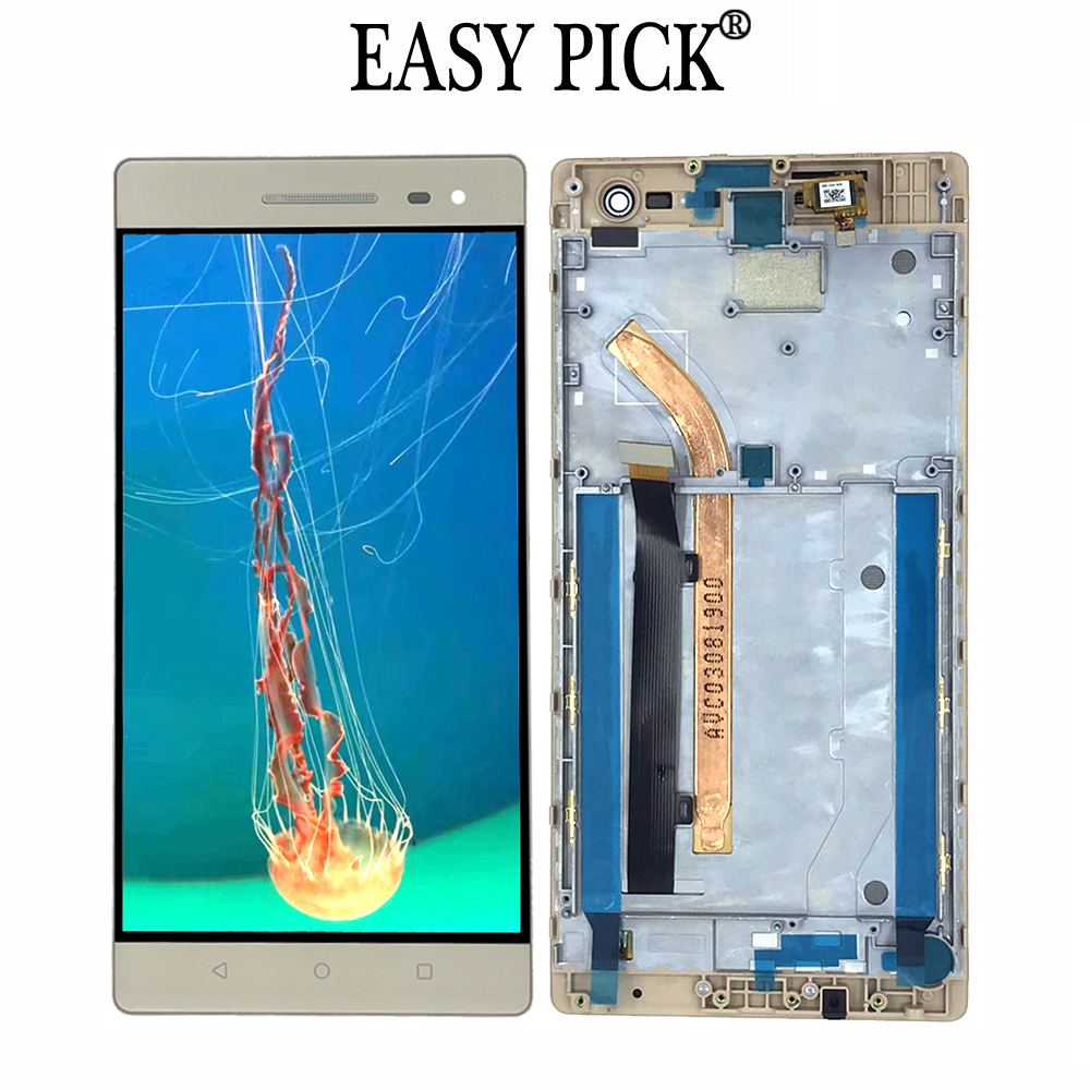 For Lenovo Phab 2 Pro PB2 690M PB2 690Y LCD Display Touch Screen Digitizer Assembly Replacement with frame