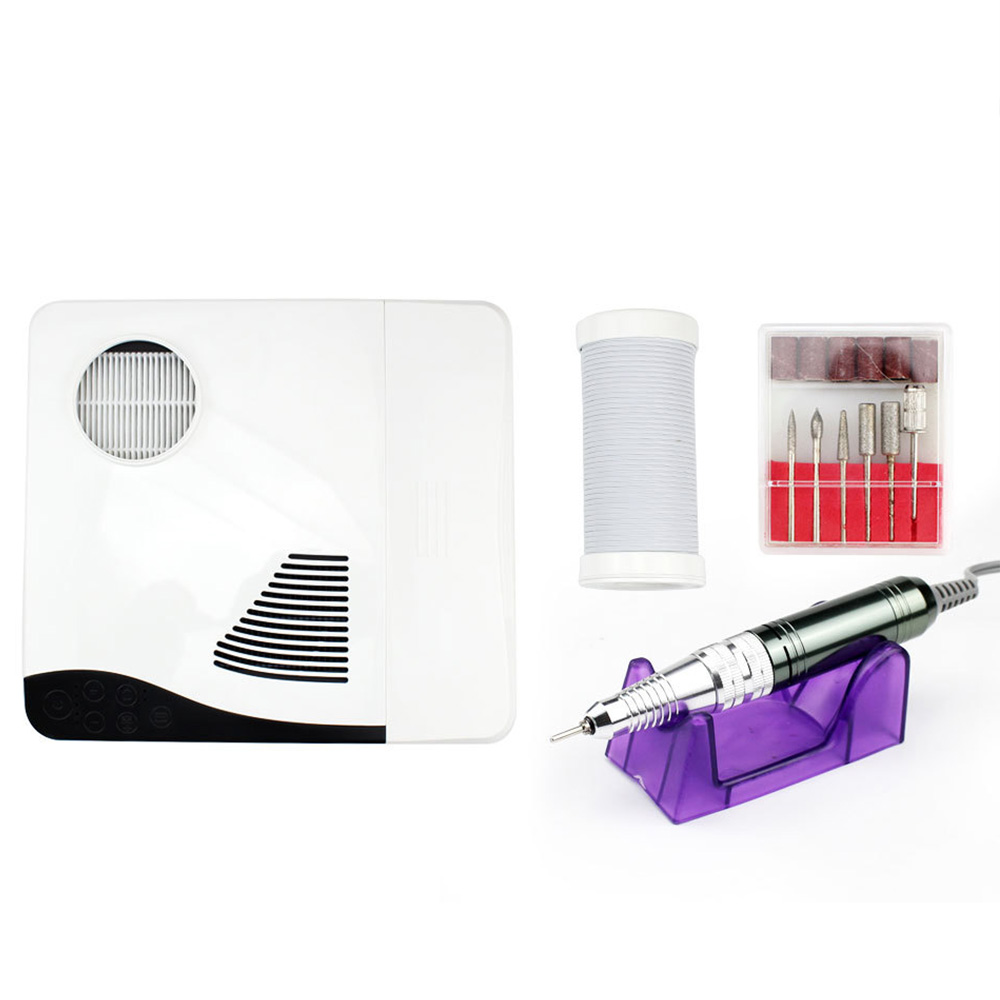 3 in 1 60W Electric Nail Drill 35000RPM Nail Dust Vacuum Collector LED Lamp Nail Manicure Machine in Electric Manicure Drills from Beauty Health