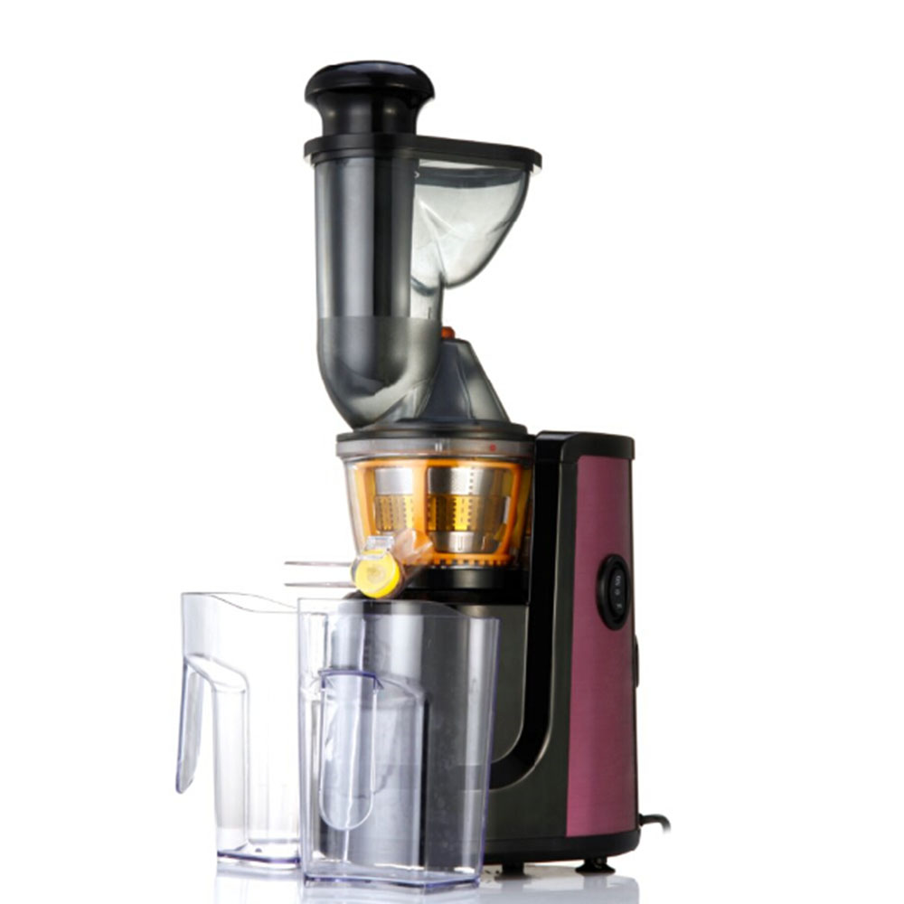 FIMEI 150W Slow Juicer Electric Slow Whole Fruit Vegetable Juicer Low Noise Juice Extractor Luxury Purple Stainless Steel Finish 220v jyz e19 household orange slow juicer fruit vegetable low speed juicer electric stainless steel orange juicer