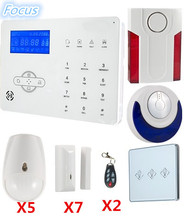 Focus Voice prompt ST IIIB GSM PSTN Wireless Alarm System Home Security Smart alarm with App