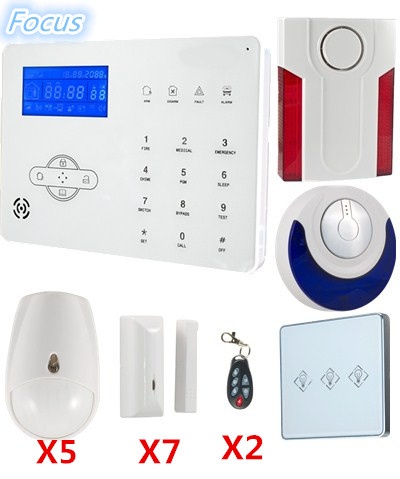 Focus Voice prompt ST IIIB GSM PSTN Wireless font b Alarm b font System Home Security