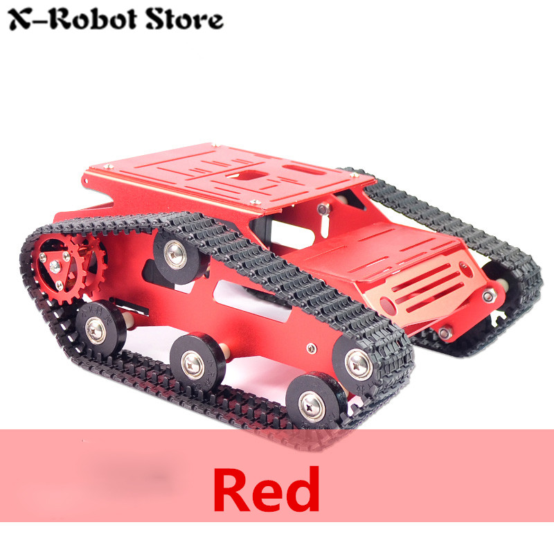 DIY Tank Tracked Aluminium Chassis Intelligent Car Robot Tank chassis balance Tank Robot Chassis Platform high power Robot diy tracked vehicle robot obstacle crossing chassis smart tank car